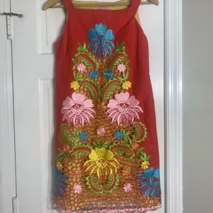 Lilly Pulitzer Embroidered Floral Dress Size 8